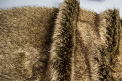 Faux fur by the metre Super soft beige brown rabbit style faux fur fabric – 1446 Beige Brown