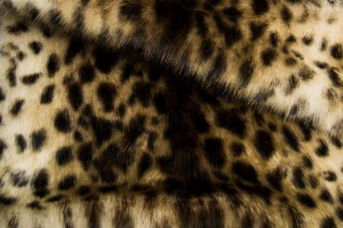 Faux fur by the metre Faux fur fabric by the metre beige/brown leopard imitation – 1481 Snow Leopard Beige Brown