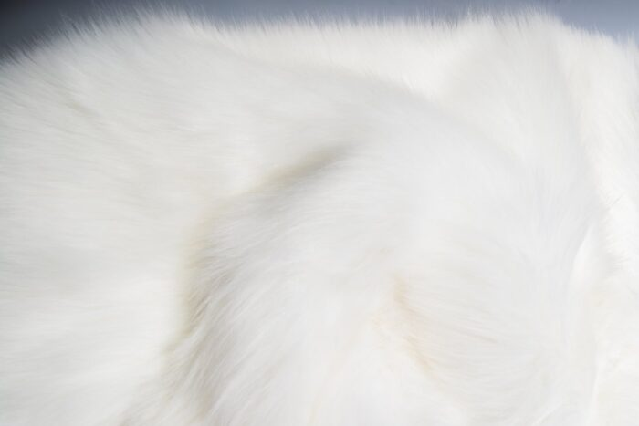 Faux fur by the metre Luxury Siberian long pile faux fur by the meter in arctic white colour – 1539 Arctic White
