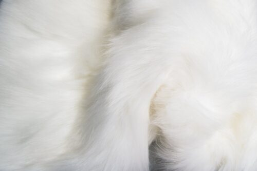 Faux fur by the metre Luxury Siberian long pile faux fur fabric by the meter in arctic white colour – 1539 Arctic White
