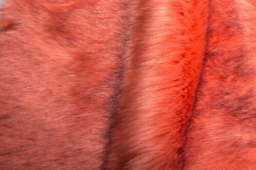 Faux fur by the metre Luxury Siberian long pile faux fur fabric by the meter in dusky pink colour – 1539 Dusky Pink