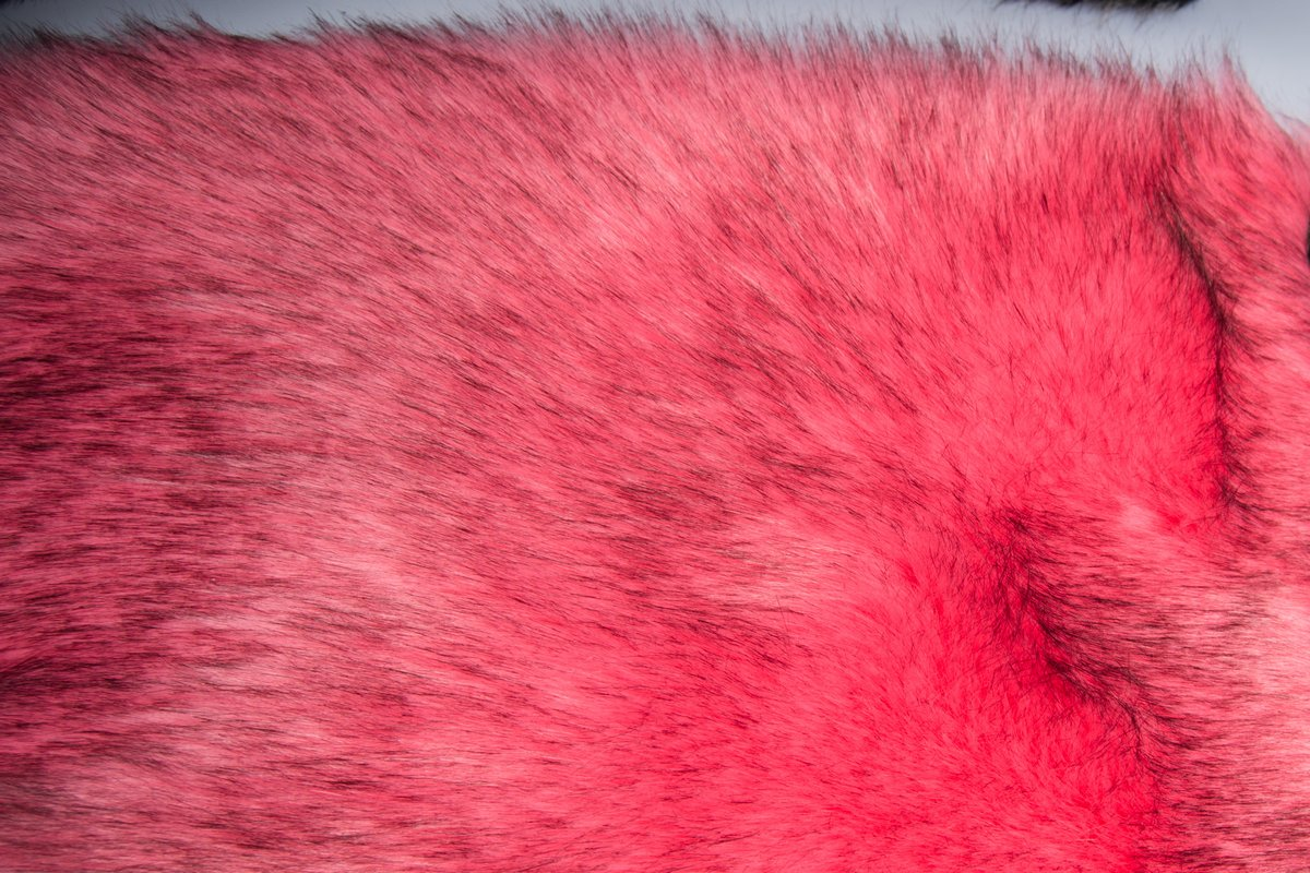 EXTRA LONG PINK Super Luxury Faux Fur Fabric Material