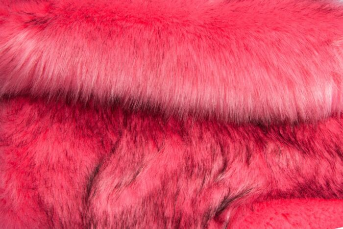 Faux fur by the metre Luxury Siberian long pile faux fur by the meter in rose colour – 1539 Rose