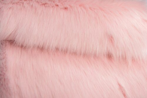 Faux fur by the metre Luxury Siberian long pile faux fur by the meter in strawberry cream colour – 1539 Strawberry Cream