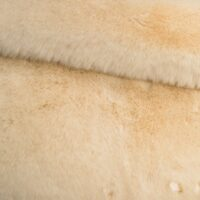 Faux fur by the metre Super soft cream mink imitation faux fur fabric – 1550 Cream