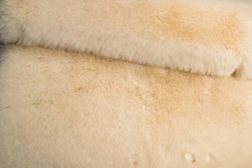 Faux fur by the metre Super soft cream mink imitation faux fur fabric – 1550 Cream