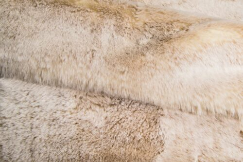 Faux fur by the metre Super soft beige rabbit style faux fur fabric by the metre – 1551 Beige Frost