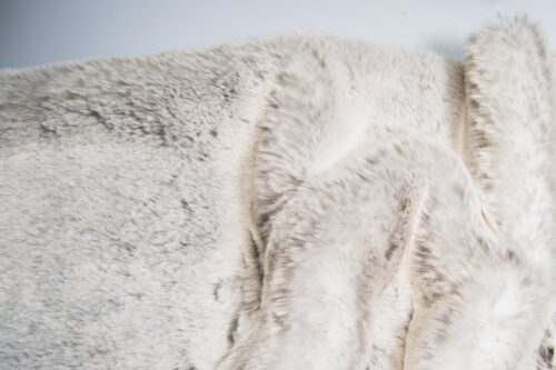 Faux fur by the metre Super soft silver rabbit style faux fur fabric by the metre – 1551 Silver Frost