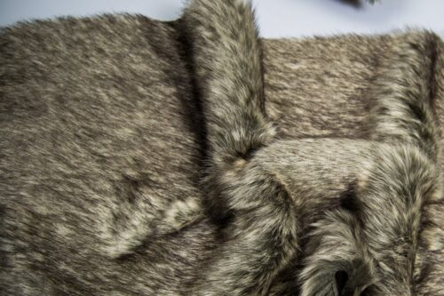 Faux fur by the metre Luxurious dark/light grey fox faux fur fabric by the meter – 1552 Charcoal Grey