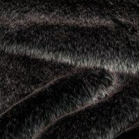Faux fur by the metre Faux fur fabric imitation rabbit black and white – 1557 Black/White