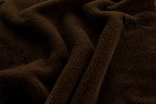 Faux fur by the metre Super soft brown faux fur fabric by the metre for lining – 2R338 Brown