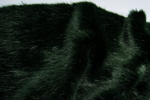 Faux fur by the metre Luxury faux mink fur fabric, super soft, green – Saluki 3025 Bottle Green