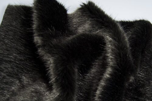 Faux fur by the metre Luxury faux mink fur fabric, super soft, charcoal grey – Saluki 3025 Charcoal