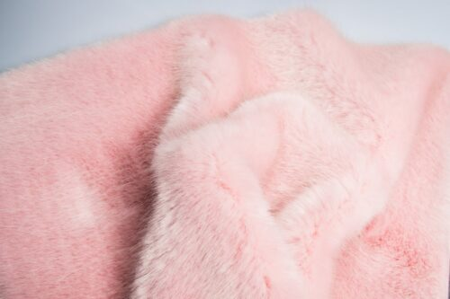 Faux fur by the metre Luxury faux mink fur fabric, super soft, Strawberry / Cream – Saluki 3025 Strawberry / Cream