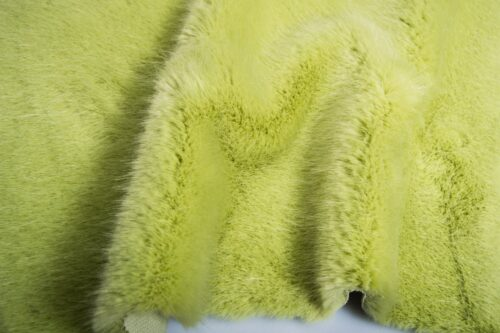 Faux fur by the metre Luxury faux mink fur fabric, super soft, olive green – Saluki 3025 Willow