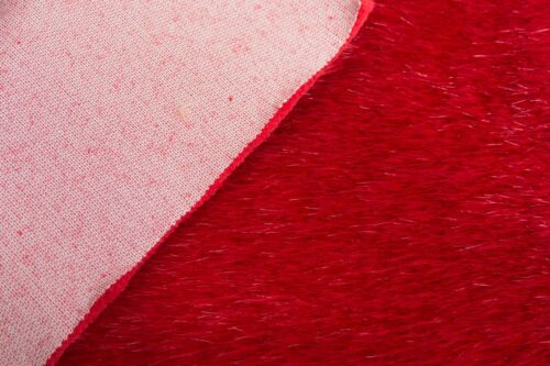 Faux fur by the metre Luxury faux mink fur fabric, super soft, christmas red – Saluki 3025 X-Mas Red
