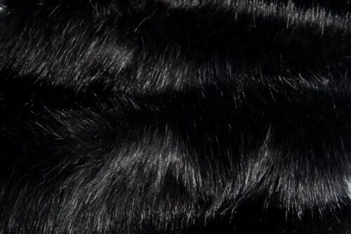 Faux fur by the metre Super soft bear style luxury black faux fur fabric – 3080 Black