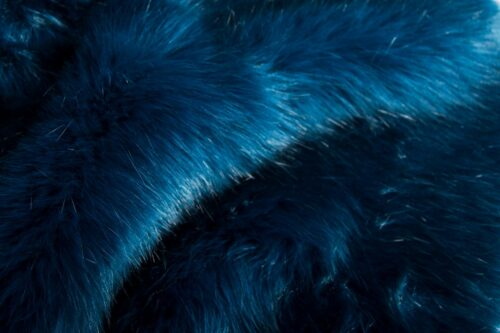 Faux fur by the metre Super soft bear style luxury blue faux fur fabric – 3080 Blue