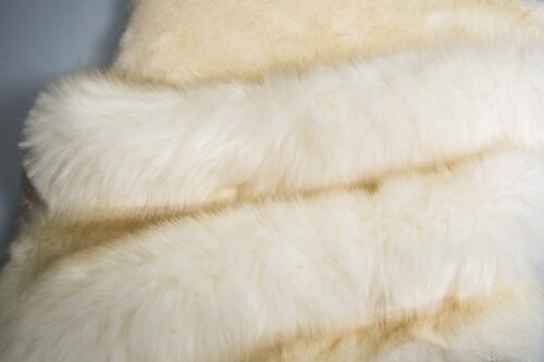 Faux fur by the metre Super soft bear style luxury cream faux fur fabric – 3080 Cream