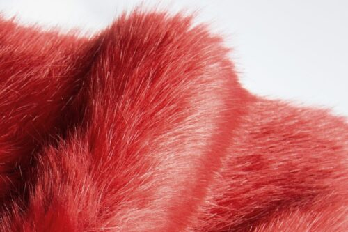Faux fur by the metre Super soft bear style luxury terracotta red faux fur fabric – 3080 Terracotta