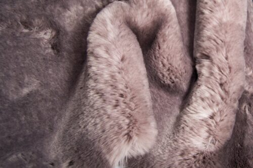 Faux fur by the metre Super soft taupe with a dark taupe tipping rabbit style faux fur fabric – 3105 Taupe/Dk. Taupe