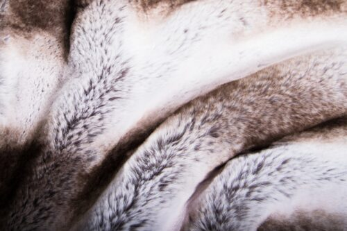 Faux fur by the metre Super soft faux fur fabric chinchilla/rabbit silver grey natural – 3106 Silver Chinchilla