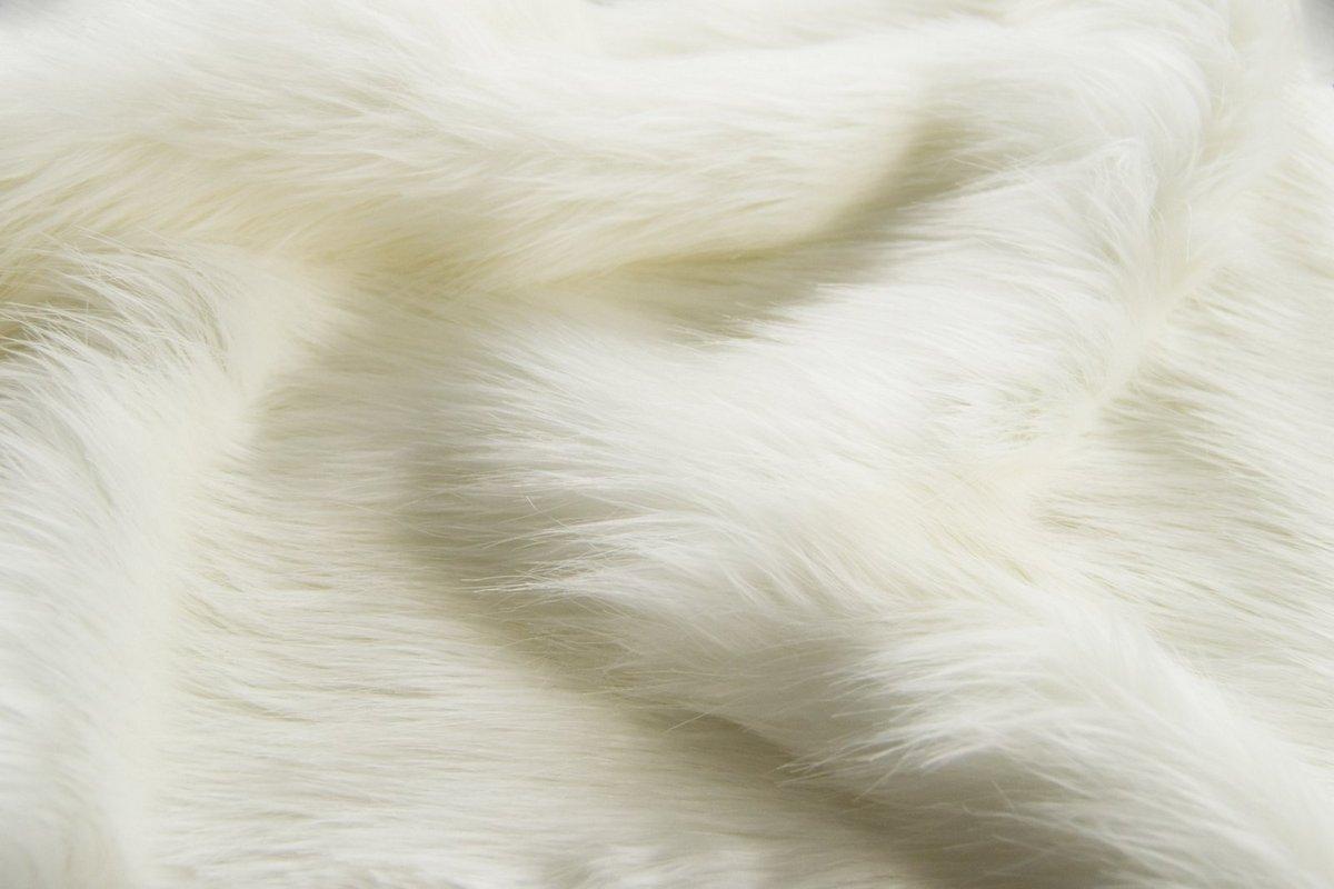 White Fox Imitation Faux Fur Fabric By
