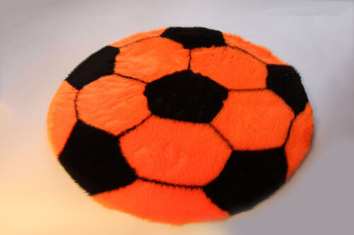 Ready made products Soccer rug – Orange and black – 70 cm in diameter