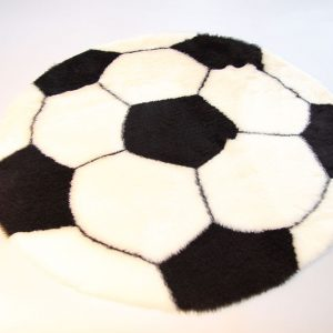 Football Rug U2013 White And Black U2013 70 Cm In Diameter