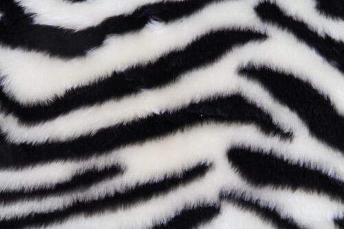 Budget faux fur Zebra faux fur fabric by the meter for disguise, costumes, cosplay – R2/60/2 desin FG 78/1
