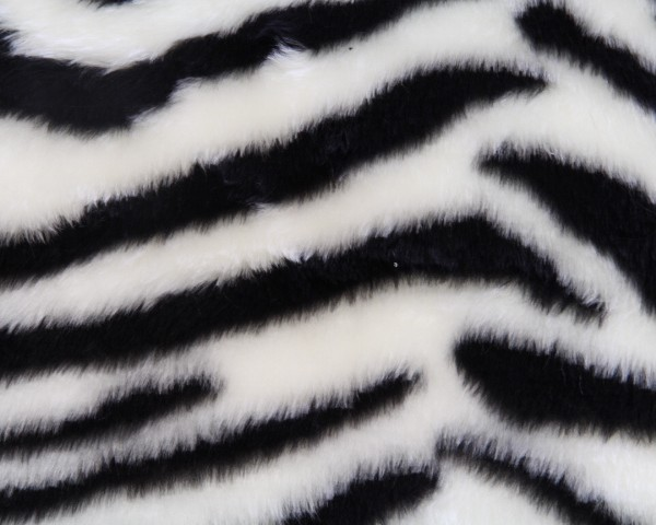 Black Zebra Faux Fur Fabric By The Meter For Disguises