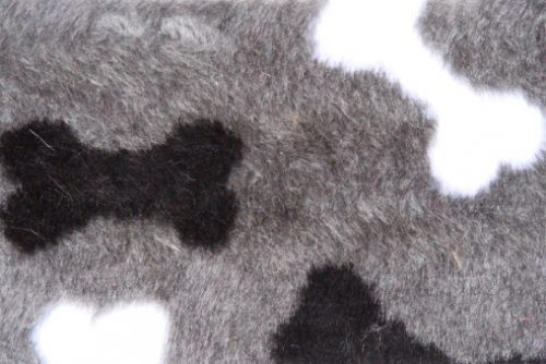 Faux fur by the metre Affordable bones pattern soft faux fur by the meter for pet cushions – R2/60/3 /8mm /LP YF 1150/1 Bones