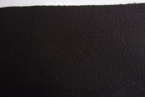 Budget faux fur Faux fur fabric sheepskin style for lining, black – K7/SF-BLACK HA 1062