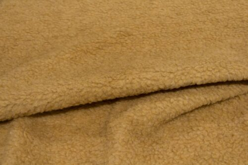 Faux fur by the metre Faux fur fabric sheepskin style for lining, camel brown – K7/SF-CAMEL HA 1051