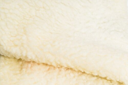 Faux fur by the metre Faux fur fabric sheepskin style for lining, light creme – K7/SF-LT CREME HA 1320