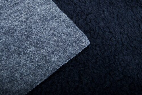 Budget faux fur Faux fur fabric sheepskin style for lining, dark blue – K7/SF-MIDNIGHT BLUE HA 3805