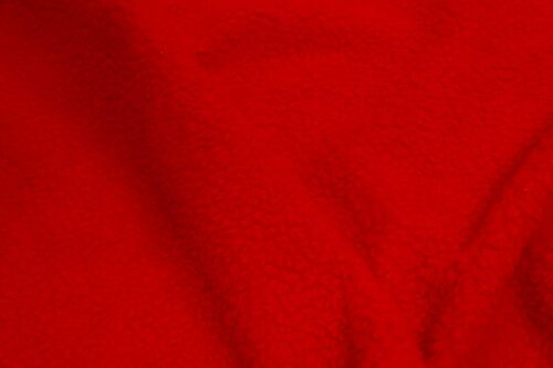 Budget faux fur Faux fur fabric sheepskin style for lining, red – K7/SF-RED HA 1058