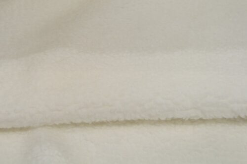 Faux fur by the metre Faux fur fabric sheepskin style for lining, white – K7/SF-WHITE HA 1060
