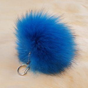 Accessories Premium pompom key ring blue