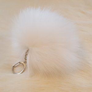 fake fur key ring