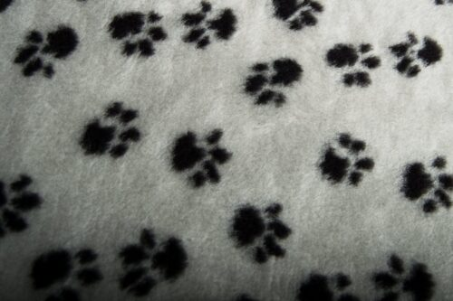 Faux fur by the metre Affordable paws pattern soft faux fur by the meter for pet cushions – R2/60/2 /10mm /UP FG637/1