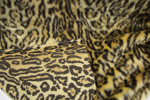 Budget faux fur Jaguar faux fur fabric by the meter for disguise, costumes, cosplay – R2/60/3 dessin FG 81/1