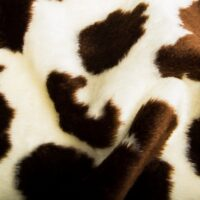 Budget faux fur Cow faux fur fabric by the meter for disguise, costumes, cosplay – R2/60/2 100/6