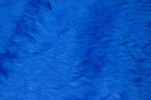Budget faux fur Low price cobalt blue faux fur fabric short pile – W1/60-Cobalt