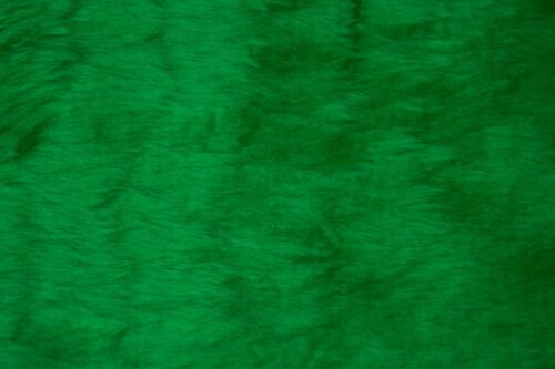Budget faux fur Low price emerald green faux fur fabric short pile – W1/60-Emerald