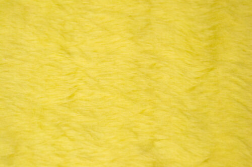 Budget faux fur Low price flavine yellow faux fur fabric short pile – W1/60-Flavine