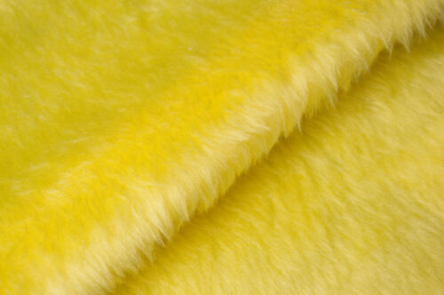 Faux fur by the metre Low price flavine yellow faux fur fabric short pile – W1/60-Flavine