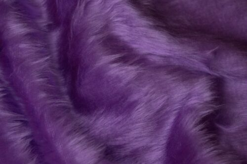 Faux fur by the metre Low price heliotrope purple faux fur fabric short pile – W1/60-Heliotrope