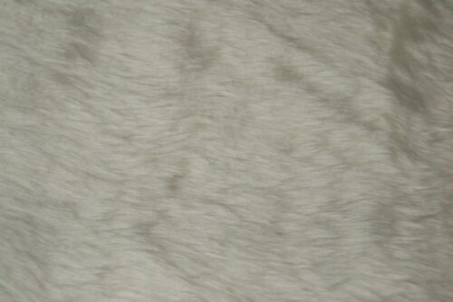 Faux fur by the metre Low price ivory white faux fur fabric short pile – W1/60-Ivory