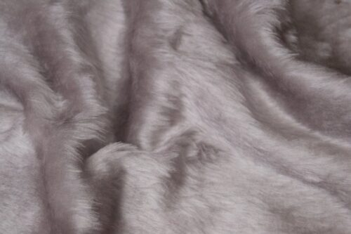 Faux fur by the metre Low price light grey faux fur fabric short pile – W1/60-K-Grey